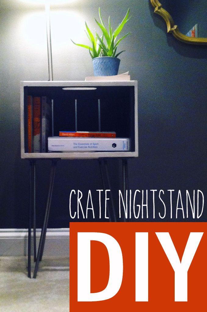 Amanda's DIY Crate Nightstands with Hairpin Legs