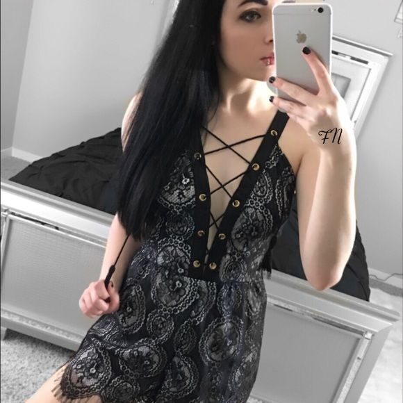 Black Lace Romper SALE Available in size medium. Small and large is out of stock.  *Model shown wearing the exact product.  Fashion Noir is an online boutique that sells fashion forward styles at affordable prices. We sell brands and products found at stores such as ASOS, Nasty Gal, Urban Outfitters, Nordstrom, PacSun & More.   If you have any questions, feel free to ask! 💕 Pants Jumpsuits & Rompers