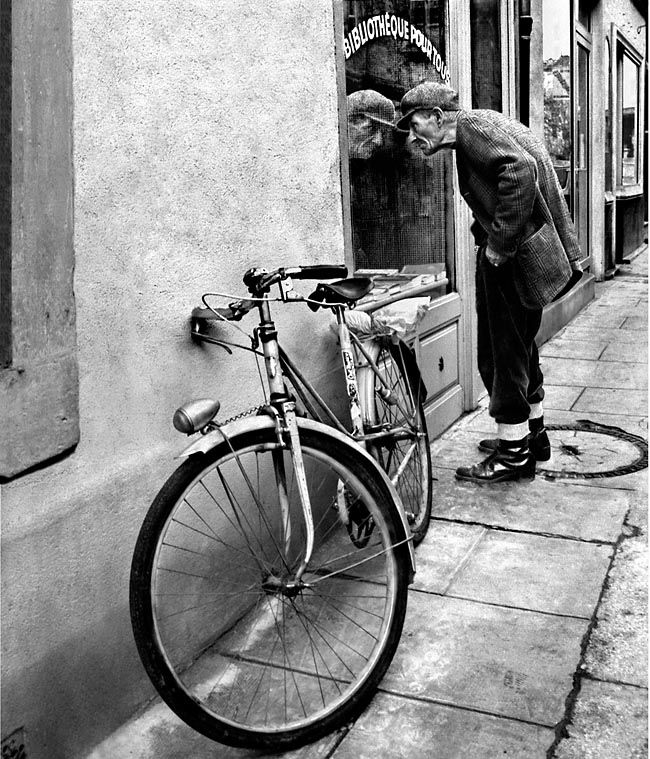 Never too old to ride a bike or window shop photo by pierre pedelmas