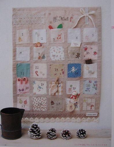 Romantic Advent Calendar Ideas : Ideas about fabric advent calendar on pinterest