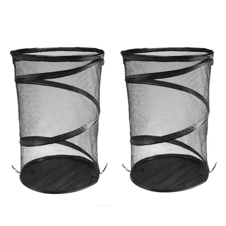 Black Laundry Basket 2 pack Pop Up laundry Basket Foldable Laundry Basket New  #Ohuhu