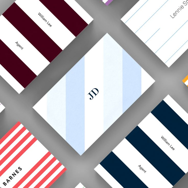 25 best Stripes – Strut and Fibre Business Card Templates images on ...