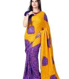 Buy yellow printed Bandhani saree with blouse bandhani-sarees-bandhej online