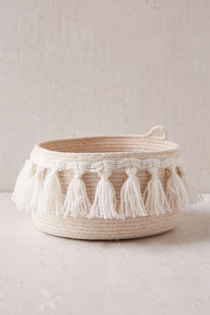 Assembly Home Coil Fringe Basket