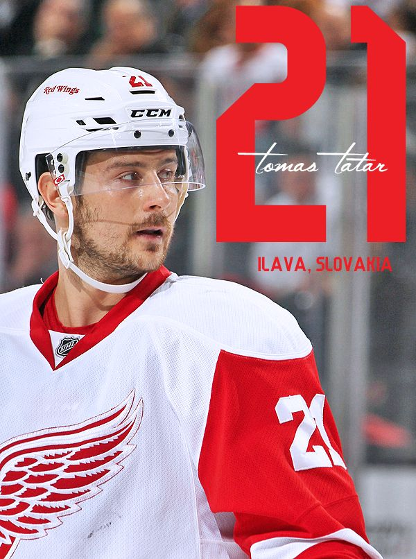 Your 2015-16 Detroit Red Wings #21 - Tomas Tatar 2014-15 : 82 GP - 29 G - 27 A - 56 PTS