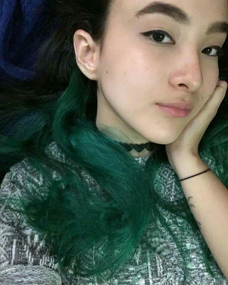 #novoarte #dark Green hair #patysaad