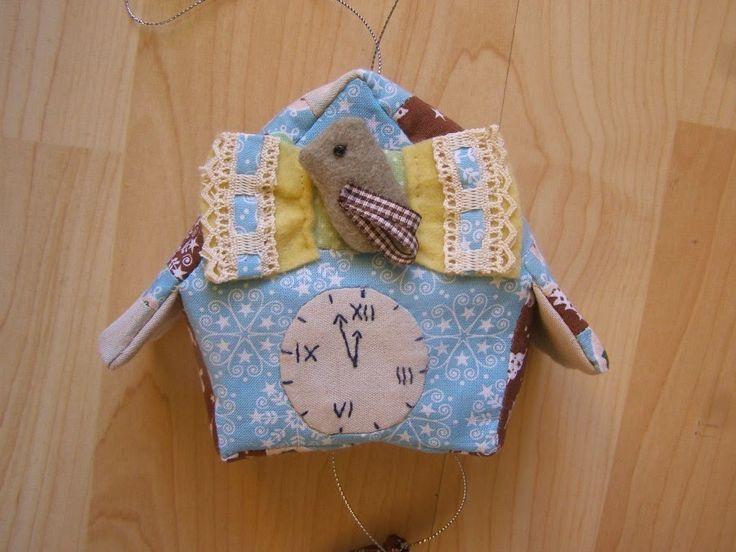 Текстильные часы с кукушкой