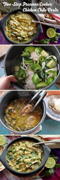 It takes just two short steps and 30 minutes to get excellent chicken chile verde from your pressure cooker!