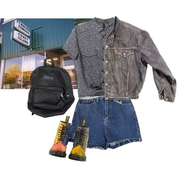 coney island by junk-food on Polyvore featuring mode, MANGO, Levi's and Dr. Martens