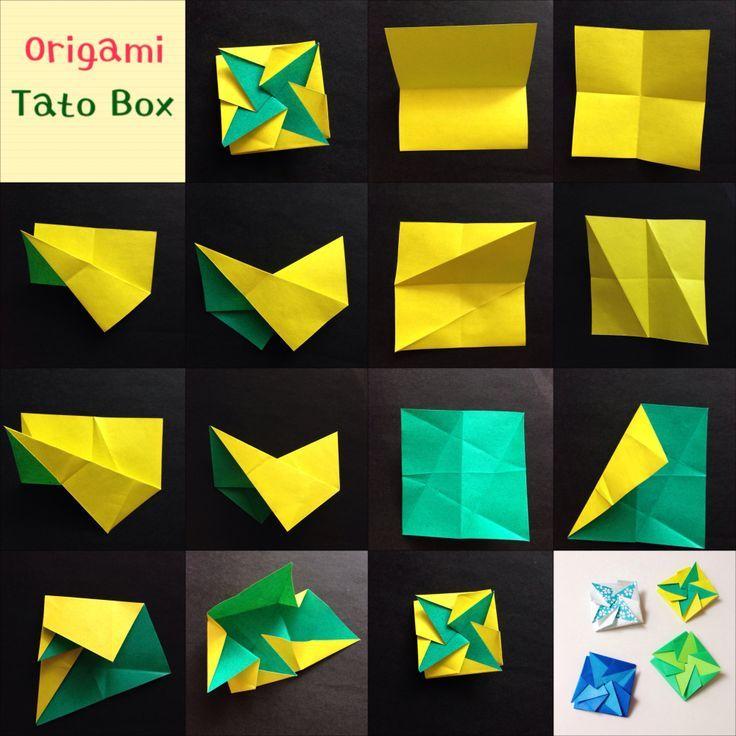 Origami Tato Box Japanische Flache Schachtel Aus Einem Einzigen Blatt Papier Diy Papier Origami Ideen Origami Umschlag Briefumschlag Basteln Papier Kunst Und Handwerk