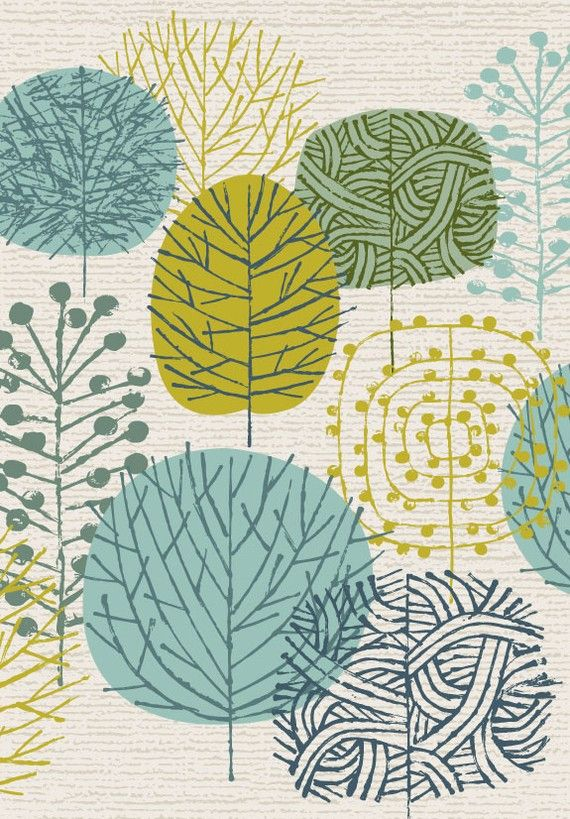 Mid century style print, which I'm rather obsessed with at the moment...