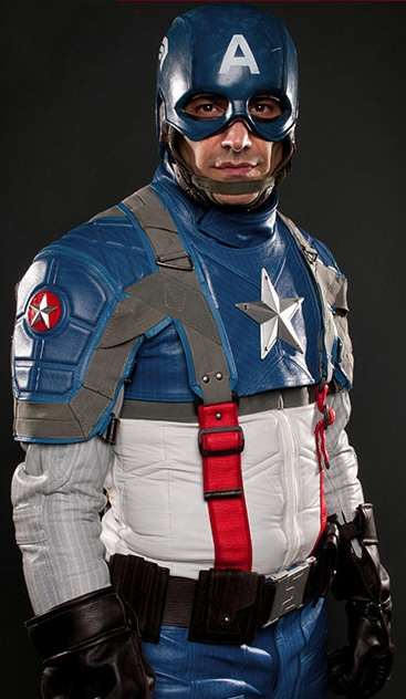 Captain America Motorcycle Suit Gives You That Super Hero Look On