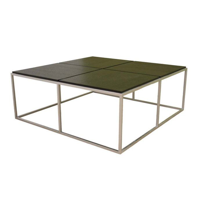 Square Coffee Tables, Silver Metal And Woods On Pinterest