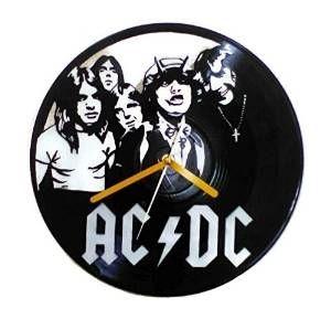 Buy AC/DC Wall Clock Vinyl Record Decorative Unique Handmade Home Living Decor by KAeruwrz