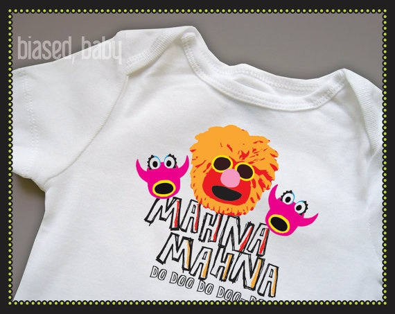 Mahna Mahna Baby Onesie  Funny Baby Gift by biasedbaby on Etsy, $16.00