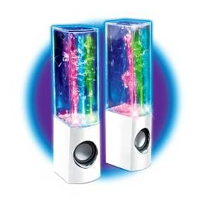Bring a splash of funky, colorful style to your next party or get-together as you turn up the jams with the Cra-Z-Art Crazy Lights Magic Light-Up Water Speakers from My Look. Bright LED lights shimmer and glow in time to the music as fountains of colored water undulate to the beat. Decorate these USB speakers with the included sheet of stickers for some extra fun.