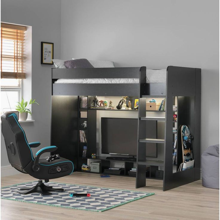 Buy argos home gaming high sleeper bed black kids beds