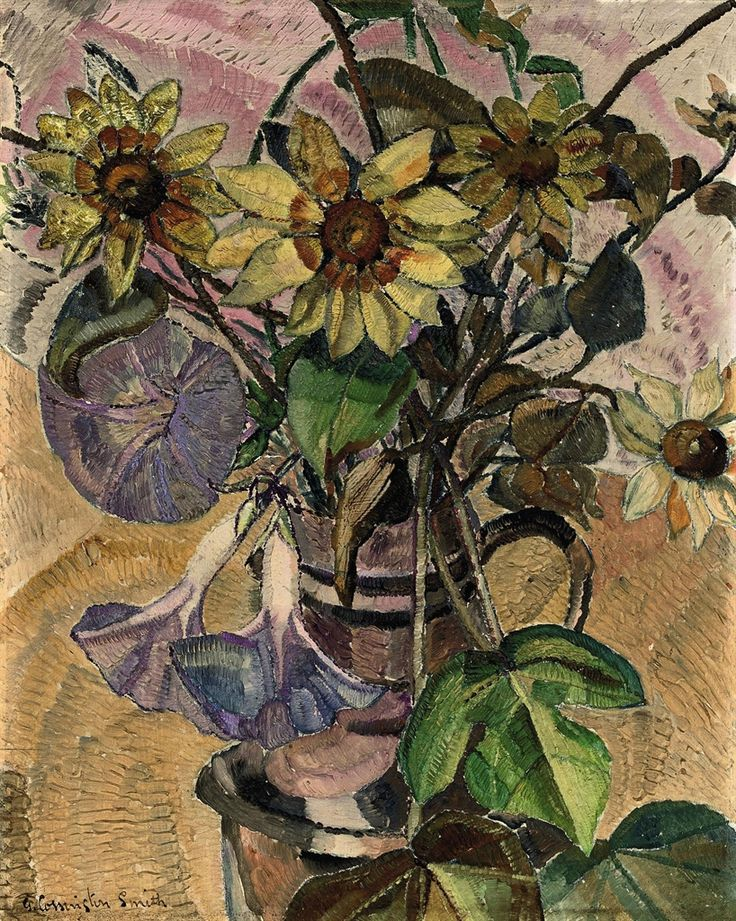 Grace Cossington Smith | Grace Cossington Smith (1892-1984) | Flowers in a jug (1931 ... She was one of the first painters to introduce Modernist painting,Post-Impressionism to Australia.