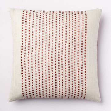 Embroidered Dot Silk Pillow Cover - Ginger