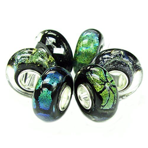 Queenberry 6 pcs Sterling Silver Mystery Black Foiled Bundle Glass Bead Charm For European Charm Bracelets Queenberry http://www.amazon.co.uk/dp/B00722XE0M/ref=cm_sw_r_pi_dp_6WTSwb0HWFXEX