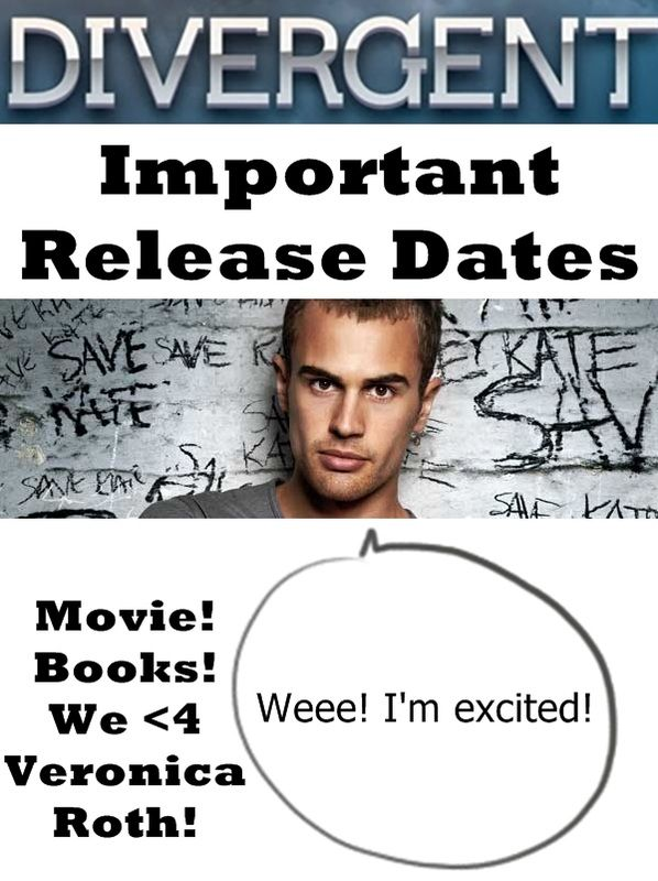 Important Divergent release dates for Veronica Roth books and movies!