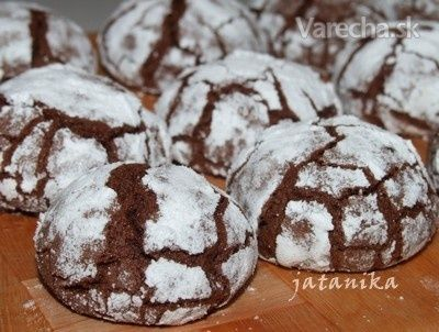 Vráskavé čokoládové koláčiky (fotorecept)