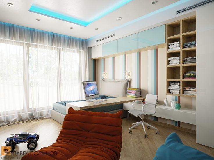 Детская с удобным столом и полками для книг / kids room / kids room idea / kids room decor / kids room design / #design #interior #homedecor #interiordesign