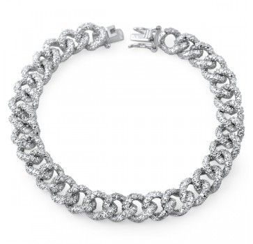Full pave' set curb bracelet.