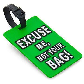 Funny Luggage Tag: Every purchase through this link supports charity.