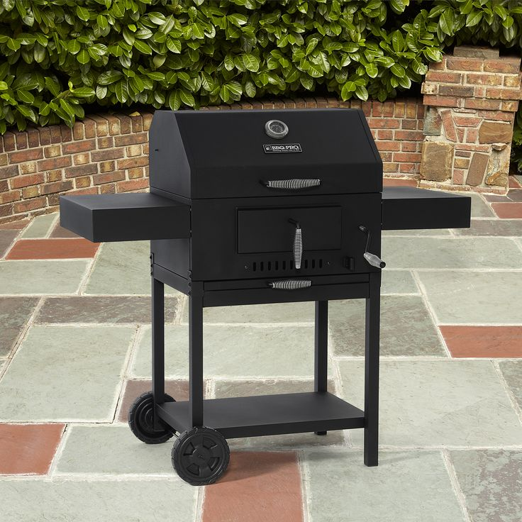 BBQ Pro Deluxe Charcoal Grill, Black