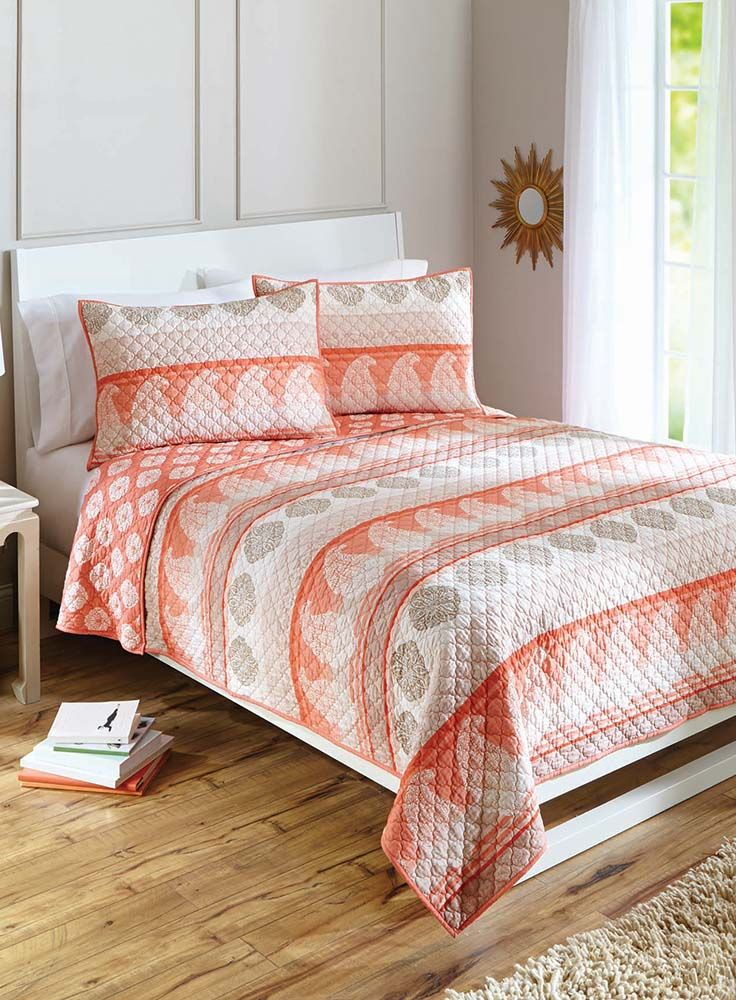 Better Homes and Gardens Paisley Stripe Quilt