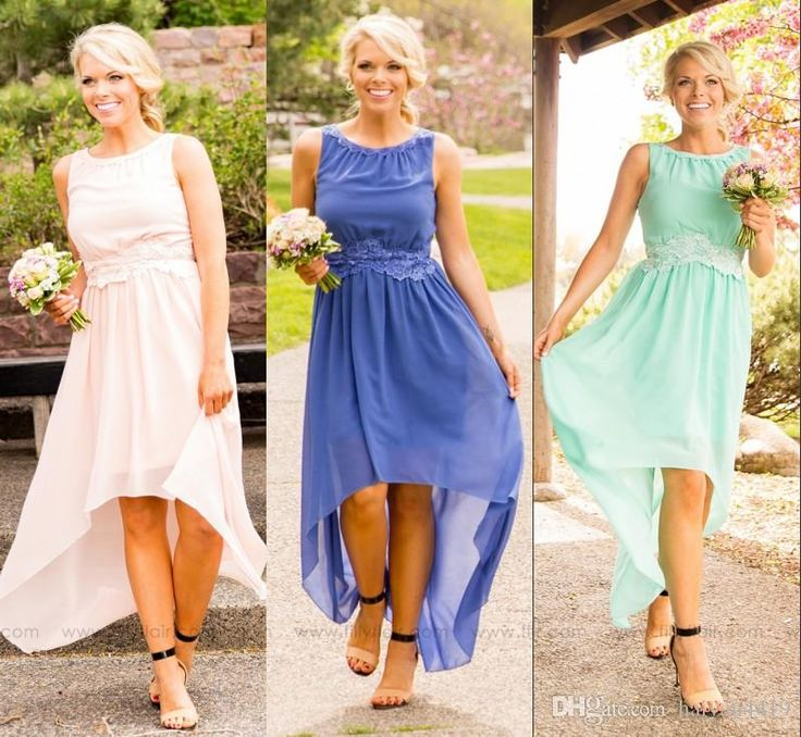 2016 new cheap country bridesmaid dresses jewel neck for Junior wedding guest dresses for summer