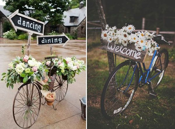 bike wedding signs