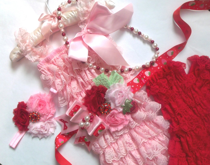 5 pcs Baby Pink Lace Petti Romper, Headband,petti rompers, baby girls petti Rompers, Photography props, Baby petti Rompers,Ready to Ship. $47.98, via Etsy.