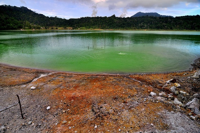 Landscape of Green Lake, from Manado, Indonesia