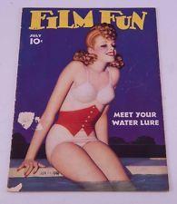 J078 Enoch Bolles 1941 FILM FUN Pin Up Girls Magazine Rare