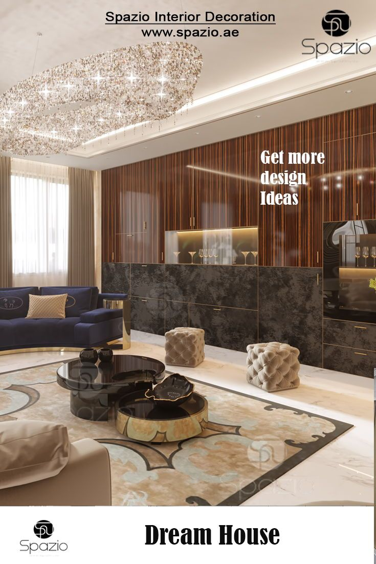 Elegant House Interior Decoration With A High End Finish The Interior Design Is Created By The Best Deco Luxury House Interior Design Luxury Living Room Design