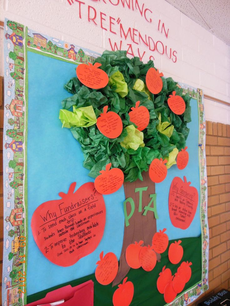 Best 25 staff bulletin boards ideas on pinterest for Apple tree classroom decoration