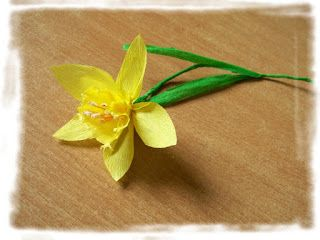 Kwiatowe inspiracje...: Żonkil (narcyz trąbkowy) krok po kroku