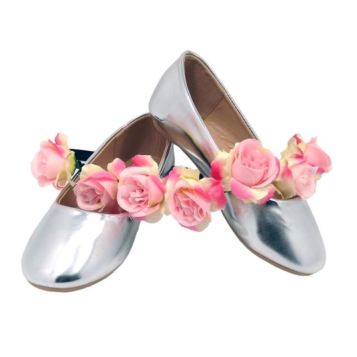 2016 Childrens' Silver Pink Champagne Black Metallic PU Leather Ballerina Dresses Shoes for Toddler Girls Wedding Party Zapatos Bebe Online with $13.05/Pair on Llg_1983's Store | DHgate.com