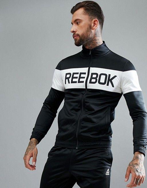 5fff8f23cc10 Chándal negro Training bq5736 de Reebok   2   Shirts, T shirt, Mens ...
