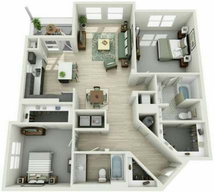 63+ Ideas Apartment Furniture Layout Floor Plans