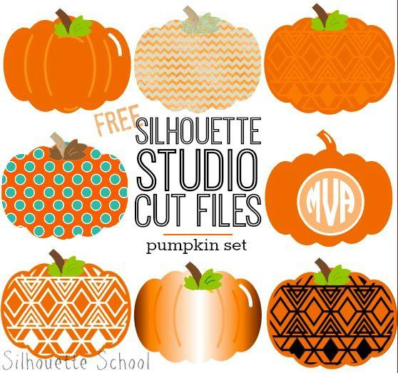Set of Pumpkins Free Silhouette Studio Cut File