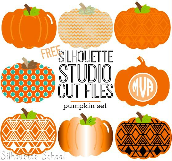 Set of Pumpkins Free Silhouette Studio Cut File