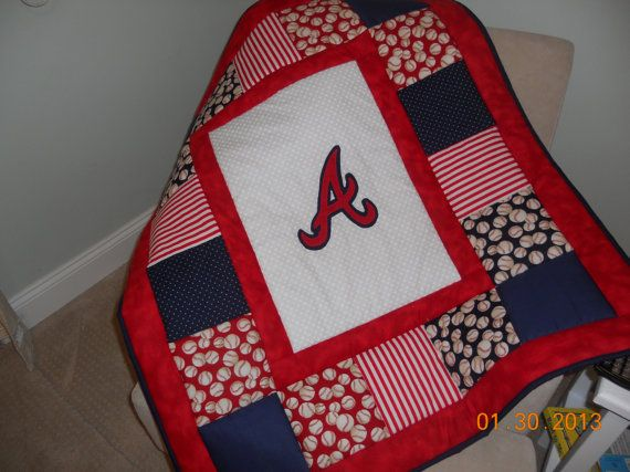 Customized Baseball Baby Quilt by memomslove on Etsy, $65.00