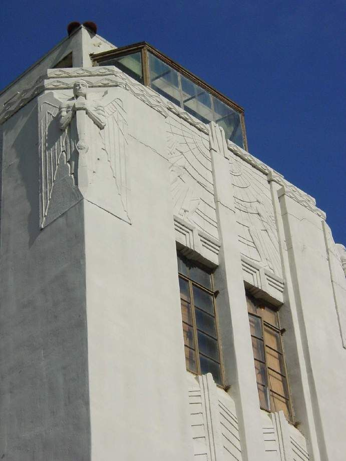 Grand Central Airport, Glendale, Ca; art deco control tower, relief detail 2005