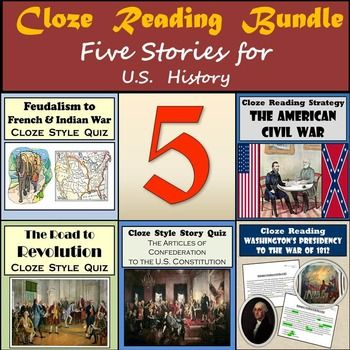 I have used these Cloze readings as the end of unit quizzes for my students and I've found they do so much better when the information is in the context of a story.  Of course, instead of quizzes these cloze readings could be used as a pre-assessment to find out what students know or don't know about that portion of history.