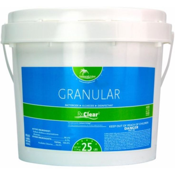 Rx Clear 99.3% Sodium Di-Chlor Granular Swimming Pool Chlorine #RxClear