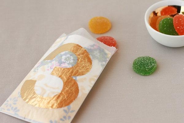 Gilded Glassine Favor Bags DIY