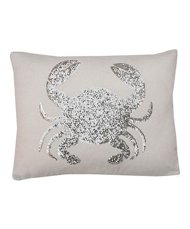 White Sequin Crab Throw Pillow Oh I Think I Need To Have